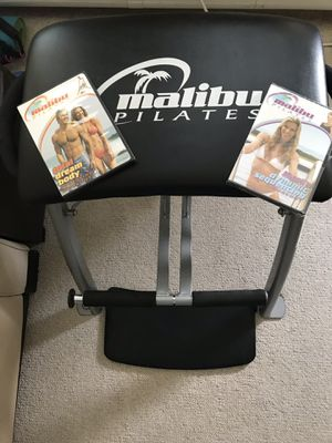 Malibu Pilates workout chair & 2 DVD's for Sale, used for sale  Edgewater, NJ