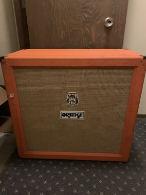 Orange 4x12 guitar cab for Sale in Seattle, WA