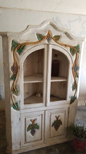 Antique corner China hutch and cherry Armour for Sale in Santa Fe Springs, CA