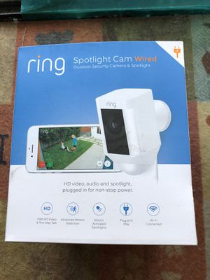 Ring Spotlight Cam Wired - White for Sale in Colton, CA