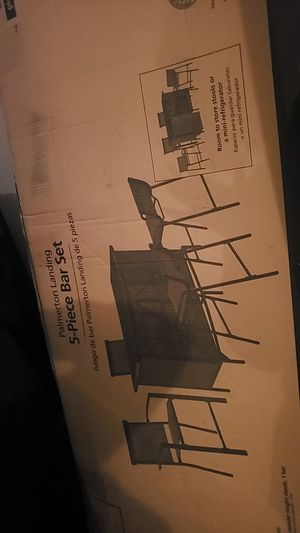 5 piece outdoor bar set furniture for Sale in Seabrook, NH