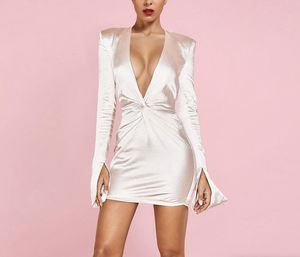 White V Neck Long Sleeve Dress for Sale in Los Angeles, CA