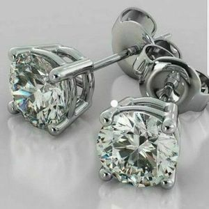 SPARKLING 2 ct(1 CT EA,) SILVER MOISSANITE EARRINGS for Sale in Perris, CA
