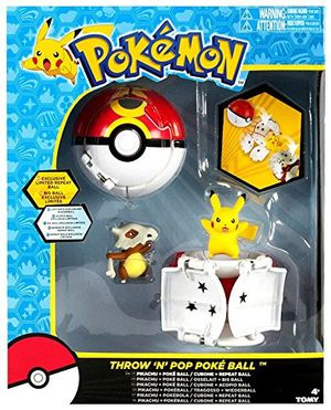 TOMY Pokemon Throw 'N' Pop Duel Pikachu Pokeball & Cubone Repeat Ball Figure Set for Sale in San Lorenzo, CA