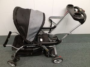 Baby Trend Sit N Stand LX Grey Mist Standard Double Seat Stroller for Sale in Chesapeake, VA