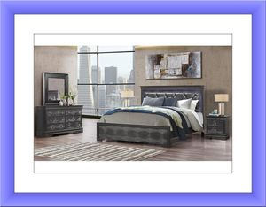 Metallic grey bedroom set with mattress for Sale in NEW CARROLLTN, MD