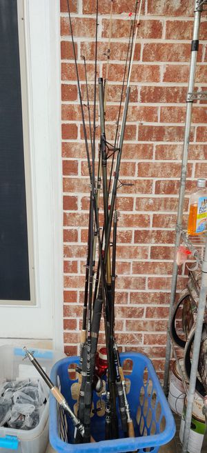 fishing rods ×12 for Sale in Manvel, TX
