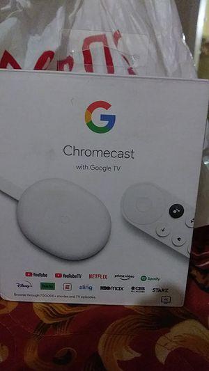 Chromecast w Google tv for Sale in Upland, CA