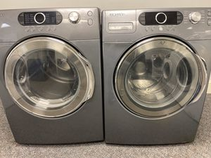 GREY SAMSUNG HIGH EFFICIENCY FRONT LOAD WASHER AND DRYER SET for Sale in Fort Mill, SC