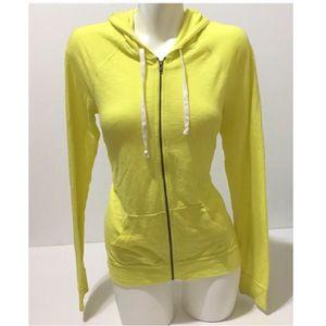 American Eagle Hoodie Sweatshirt Zip Up Yellow Large for Sale in Everett, WA