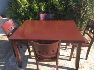Solid Kitchen Table With Chairs for Sale in Fresno, CA