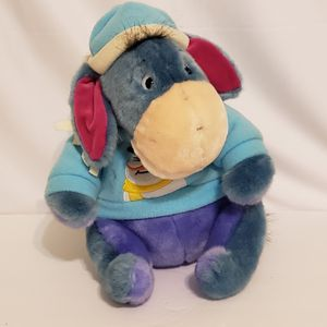 DISNEY STORE EEYORE IN SNOWMAN SWEATER PLUSH CHRISTMAS HAT SCARF for Sale in Brookfield, IL