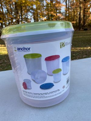NEW 12-Piece Anchor Home Collection Storage Containers With Lids for Sale in Fairfax, VA