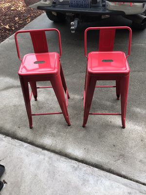 2 metal bar stools for Sale in Mount Vernon, WA