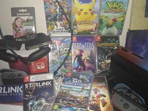 Super huge Nintendo switch bundle: console, 13 games, lan adapter, etc for Sale in Dayton, VA