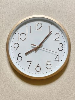 "12"" Wall Clock Rose Gold for Sale in Henderson,  NV"