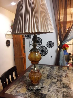 antique amber glass lamp for Sale in Santa Maria, CA