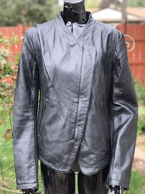 Laundry Black Leather Women's Jacket Size XL for Sale in Elk Grove Village, IL