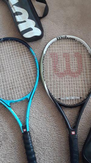 High quality Wilson tennis rackets. One titanium one hyper carbon hammer series . for Sale in Vista, CA