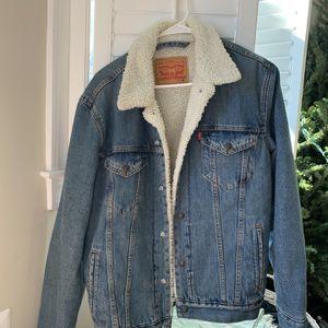 Levi Sherpa Denim Jacket for Sale in Alexandria, VA
