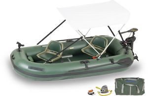 Sea Eagle STS10 Inflatable Boat with Watersnake Electric freshwater/saltwater trolling motor and Optima size 24 deep cycle marine battery for Sale in Houston, TX