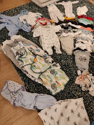 Clothes lot newborn and 0-3 months for Sale in Seattle, WA