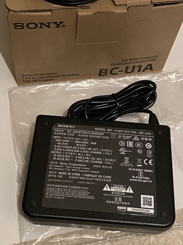 Sony BC - U1A (Battery Charger) - Like New OPEN BOX