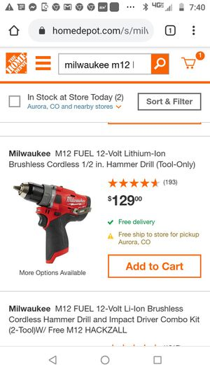 Milwaukee M12 Hammer Drill for Sale in Denver, CO