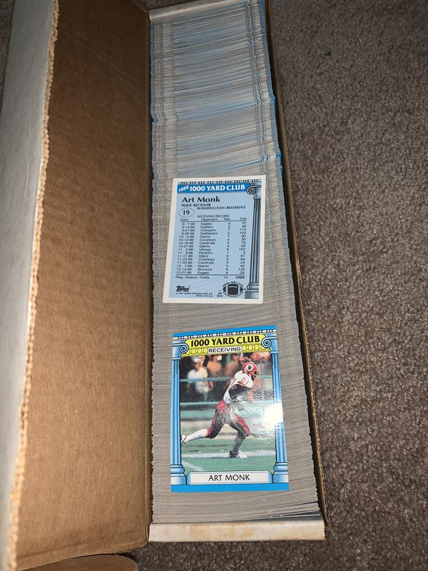 Art Monk 1987 Topps 1000 Yard Club #19 Football Cards Available 1000