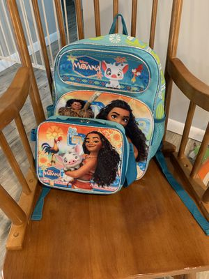 Disney Moana backpack and lunchbox for Sale in Largo, FL