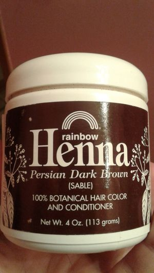 Rainbow henna hair color and conditioner in Persian dark brown for Sale in Ottawa, IL