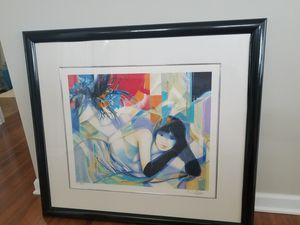 Art- Beautiful Custom Framed Serigraph of a woman for Sale in Elgin, IL