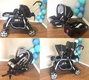 Graco Double Stroller & Infant Car Seat with Adjustable Base for Sale in Dallas, TX