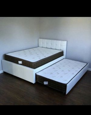 Full over Twin Bed with Mattresses for Sale in Norco, CA