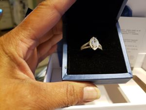 Marquis genuine white sapphire ring size 7 in sterling silver for Sale in Zanesville, OH