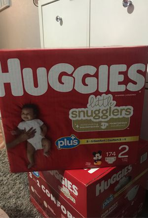 A on open box of huggies diapers Mickey Mouse for Sale in Los Angeles, CA