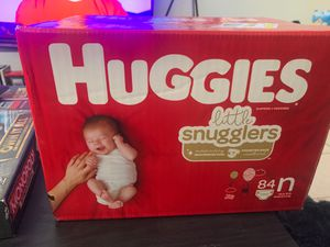 Huggies size n 84 count for Sale in San Diego, CA