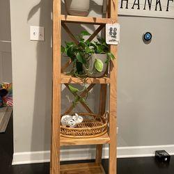 Natural Wood Boho Ladder BookShelf for Sale in Arlington Heights,  IL