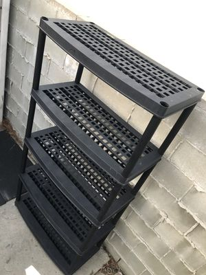 Storage rack plastic shelves heavy duty sturdy stand for Sale in Los Angeles, CA