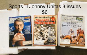 Sports Illustrated Johnny Unitas 3 issues for Sale in Wellford, SC