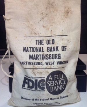 Huge Bank Sealed The Old National Bank of Martinsburg Canvas Bag- Unsearched 1913-1938 Buffalo Nickels- Approximately 500 Coins! for Sale in Washington, DC