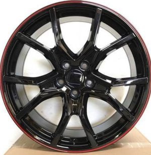 """Honda Accord 20"""" new red blk si style rims tires set for Sale in Hayward, CA"""