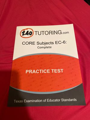 240Tutoring Book-All 5 Core Content EC-6 Subjects-$10 for Sale in San Antonio, TX