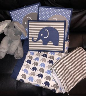 Baby elephant bedding for crib for Sale in Boston, MA