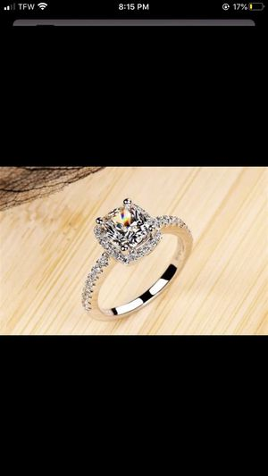 CC 925 Sterling Silver Rings For Women Bridal Wedding Anelli Trendy Jewellery Engagement White Gold Color Anillos Mujer CC595 for Sale in Pomona, CA