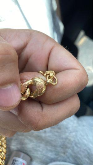 14kt gold chain Miami Cuban for Sale in Norton, MA