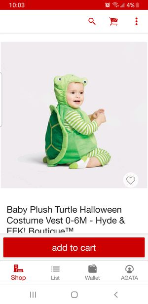 Turtle Costume Size 12-18 months for Sale in Oak Lawn, IL