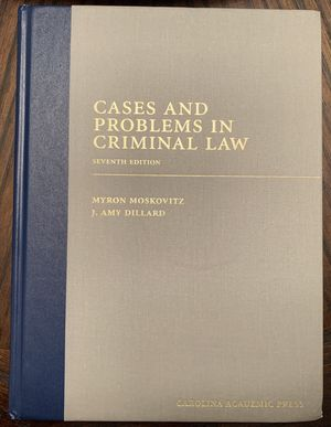 Cases And Problems In Criminal Law Seventh Edition for Sale in Tacoma, WA