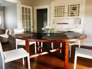 Dining Table, Chairs (8), & Lazy Susan Set for Sale in Tulsa, OK