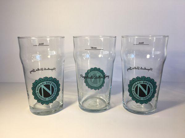 Ninkasi Brewing Beer Glasses